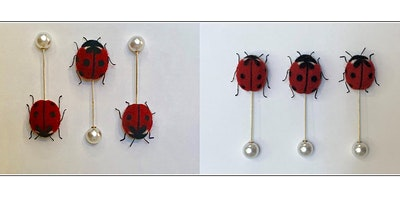 NEEDLE FELTED FAMILY OF LADYBIRDS 2