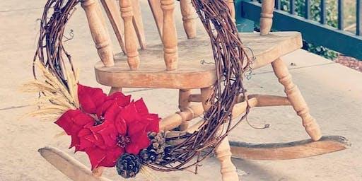 Holiday Grapevine Wreath Making + Wine