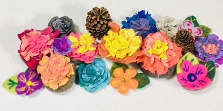 布與羊毛氈花花創作工作坊 Nuno Felting & Wet Felting Flower Making Workshop tickets
