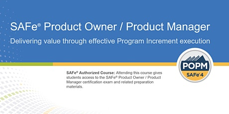 SAFe® Product Owner/Product Manager Certification Training in Vancouver, Canada tickets