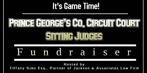 PG Co. Sitting Judges' Campaign Reception-RSVP by 1/10!- $100 min. donation