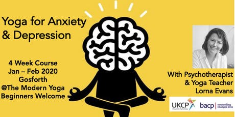 Yoga for Anxiety & Depression : 4 week course tickets