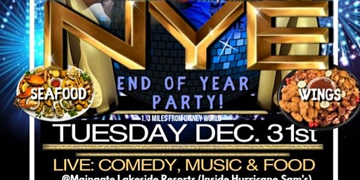 "NEW YEARS EVE CELEBRATION ""Starting 2020 with LAUGHS & GOOD FOOD"""