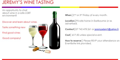 Jeremy' Wine Tasting - South Africa Revisited - Friday 28th February 2020 tickets