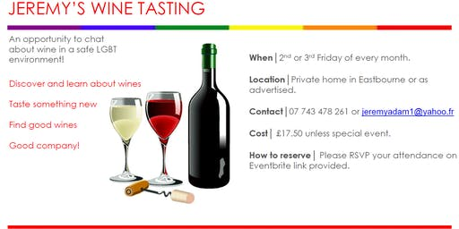 Jeremy' Wine Tasting - South Africa Revisited - Friday 28th February 2020