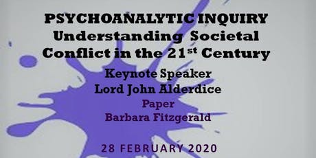Psychoanalytic Inquiry: Understanding Societal Conflict in the 21st Century tickets