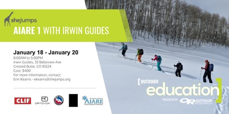 CO SheJumps AIARE 1 with Irwin Guides tickets