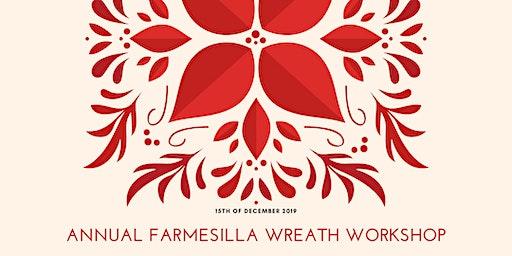 Holiday Wreath Workshop at FARMesilla