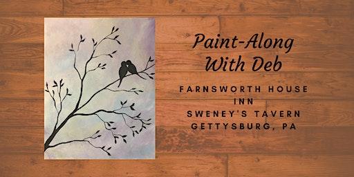 Purple Sky Lovebirds Paint-Along - Farnsworth House Inn Tavern