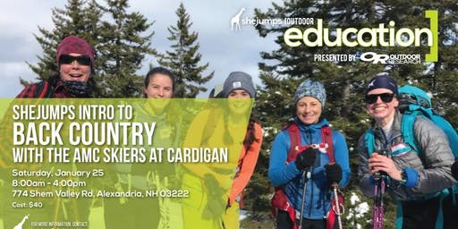 NH SheJumps Intro to Backcountry with AMC Skiers at Cardigan