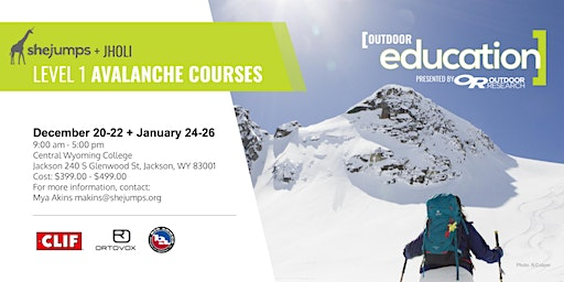 WY SheJumps & JHOLI Level 1 Avalanche Courses