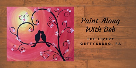 Sunset Lovebirds - The Livery Paint-Along tickets
