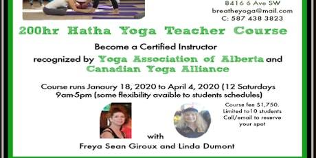 200 hr Yoga Teacher Certification course tickets