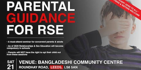 Parental guidance for relationship sex education (RSE) event tickets