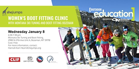 MT SheJumps Women's Boot Fitting Clinic tickets