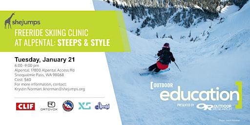 WA SheJumps Freeride Skiing Clinic at Alpental: Steeps & Style