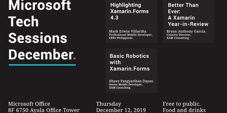 Microsoft Tech Sessions - December tickets