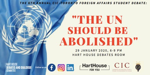 Should the UN be Abolished? The 6th Annual CIC Foreign Affairs Debate
