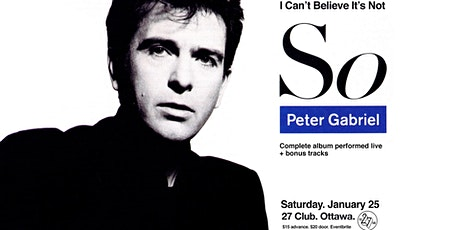 Peter Gabriel - So -LIVE tickets