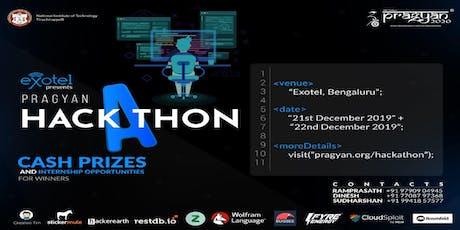 Pragyan Hackathon tickets