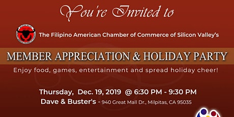 FACC Member Appreciation and Holiday Party tickets