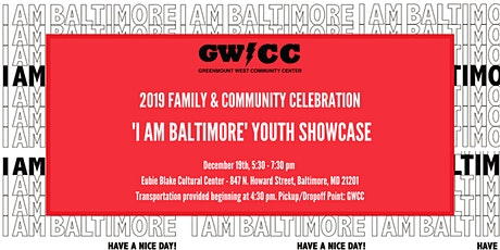 Greenmount West Community Center 'I Am Baltimore' Youth Showcase  tickets