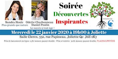 """Conférence Soirée """"Découvertes Inspirantes"""" tickets"""