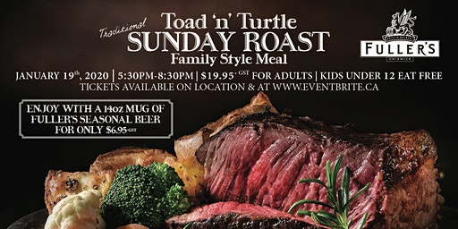 Toad 'n' Turtle Fuller's Sunday Roast