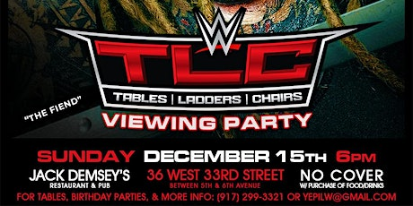 WWE TLC Viewing Party & Sonny Sofrito's Birthday tickets