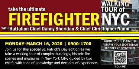Ultimate Firefighter Walking Tour of NYC-St. Patrick's Day Edition tickets
