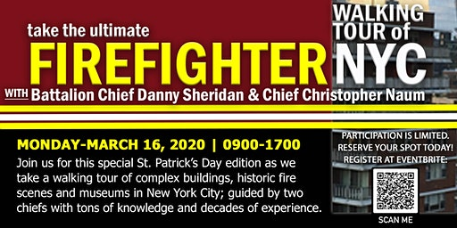 Ultimate Firefighter Walking Tour of NYC-St. Patrick's Day Edition Reading Buildings