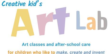 Creative Kid's Art Lab - January Holidays 2020 tickets