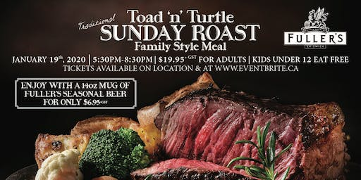 Toad 'n' Turtle Fuller's Sunday Roast