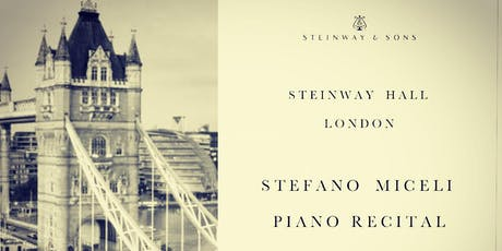 Stefano Miceli Piano Recital | London, Steinway Hall tickets