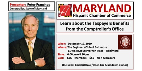 Peter Franchot - Taxpayers Benefits (Office of the MD Comptroller) tickets