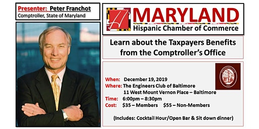 Peter Franchot - Taxpayers Benefits (Office of the MD Comptroller)