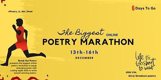 3 Days  Free Poetry Workshop/Marathon