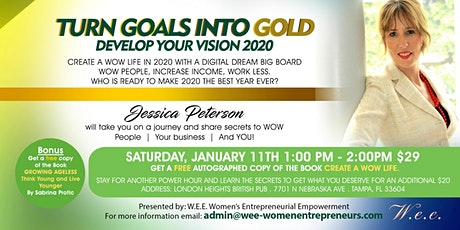 Turn Goals Into Gold - Vision Dream Board 2020 tickets