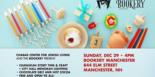 Hanukkah at The Bookery! Story Time, Crafts, Snacks & Lighting