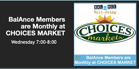 BalAnce Members LIVE ON-LINE (CHOICES MARKET) tickets
