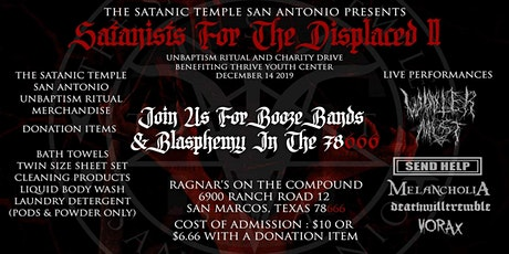Satanists For The Displaced II: Blasphemy in the 78666 tickets
