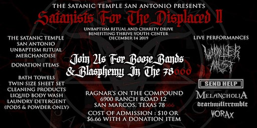 Satanists For The Displaced II: Blasphemy in the 78666