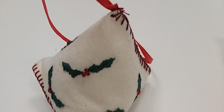 Hand Embroidered Biscornu and Humbugs Textile Workshop tickets