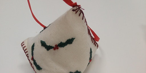 Hand Embroidered Biscornu and Humbugs Textile Workshop