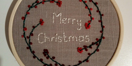 Hand Embroidered Festive / Christmas Hoop Decoration Workshop tickets