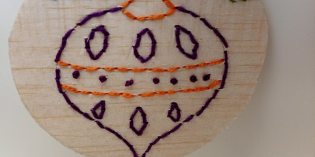 Balsa Wood Baubles Textile Workshop Hand and / or Machine Embroidery tickets
