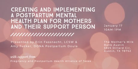 Creating and Implementing a Postpartum Mental Health Plan for Mothers and Their Support Person tickets