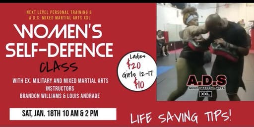 WOMEN'S SELF DEFENSE CLASS - SAVE YOUR OWN LIFE!