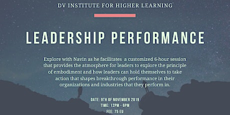 Leadership Performance - Action that Causes Transformation tickets
