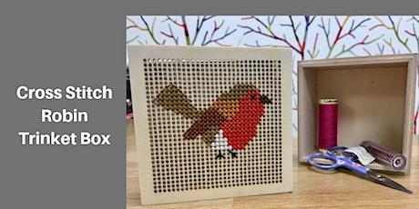 Copy of Cross Stitch Robin Trinket Box tickets